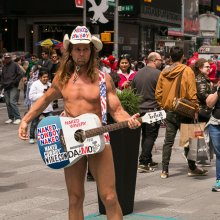 Naked Cowboy at Time Square
