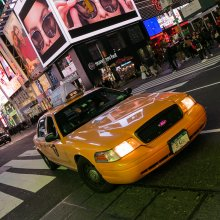 Yellow Cab at Time Square